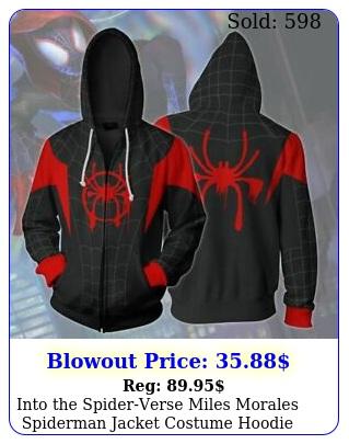 into the spiderverse miles morales spiderman jacket costume hoodie sweatshir