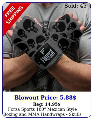forza sports mexican style boxing mma handwraps skulls gra
