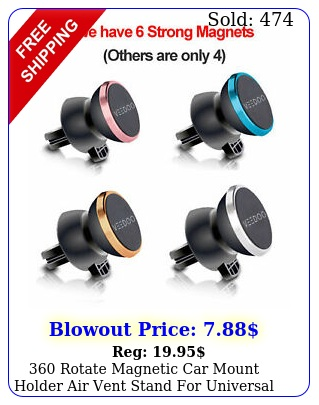 rotate magnetic car mount holder air vent stand universal cell phone gp
