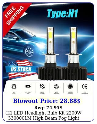h led headlight bulb kit w lm high beam fog light xenon k whit