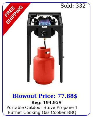 portable outdoor stove propane burner cooking gas cooker bbq grill camping u