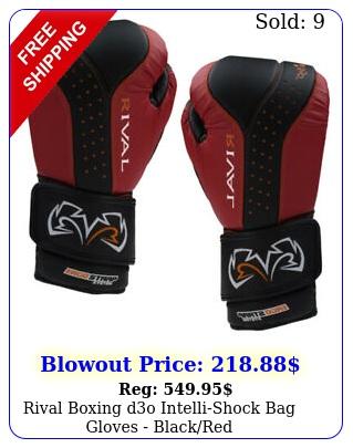 rival boxing do intellishock bag gloves blackre