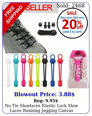 no tie shoelaces elastic lock shoe laces running jogging canvas sneakers traine