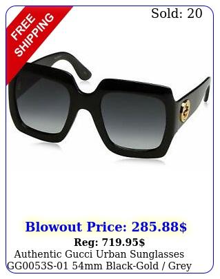 authentic gucci urban sunglasses ggs mm blackgold grey gradient len