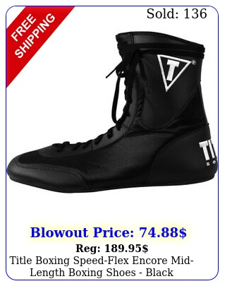 title boxing speedflex encore midlength boxing shoes blac