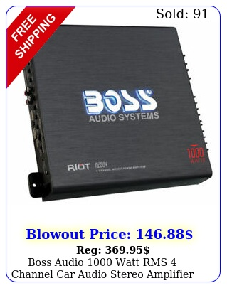 boss audio watt rms channel car audio stereo amplifier amp  remote