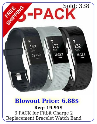 pack fitbit charge replacement bracelet watch band heart rate fitnes