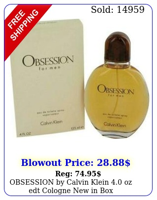 obsession by calvin klein oz edt cologne in bo