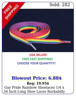 gay pride rainbow shoelaces x inch long shoe laces rockabilly punk ne