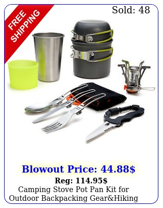 camping stove pot pan kit outdoor backpacking gearhiking cooking equipmen