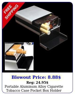 portable aluminum alloy cigarette tobacco case pocket holder plastic cove