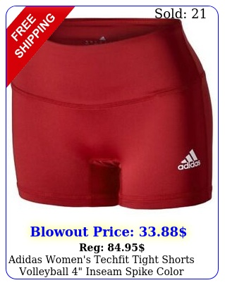 adidas women's techfit tight shorts volleyball inseam spike color choice c