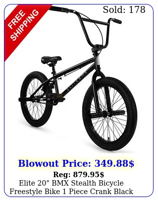 elite bmx stealth bicycle freestyle bike piece crank blac