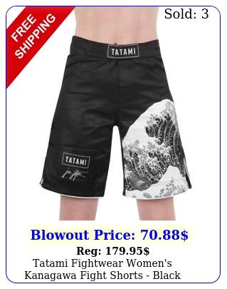 tatami fightwear women's kanagawa fight shorts blac