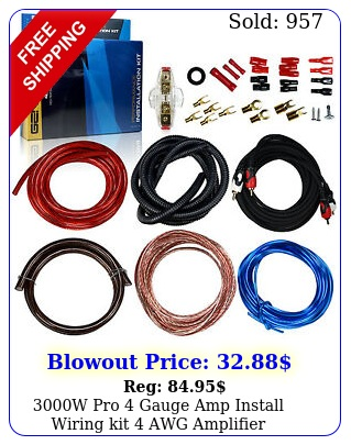 w pro gauge amp install wiring kit awg amplifier installation cable se