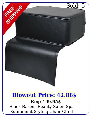 black barber beauty salon spa equipment styling chair child booster seat cushio