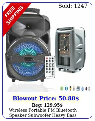 wireless portable fm bluetooth speaker subwoofer heavy bass sound system part