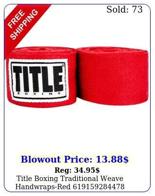 title boxing traditional weave handwrapsre