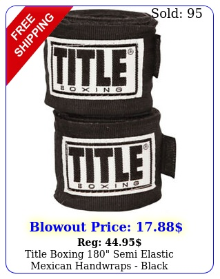 title boxing semi elastic mexican handwraps blac