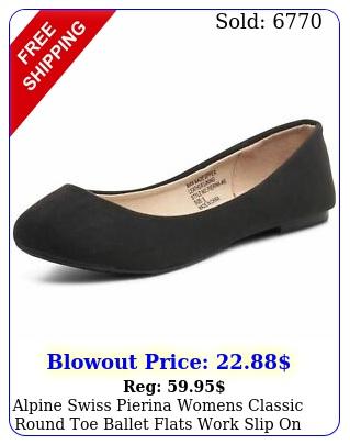 alpine swiss pierina womens classic round toe ballet flats work slip on shoe