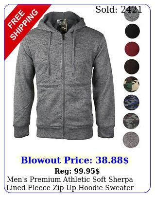 men's premium athletic soft sherpa lined fleece zip up hoodie sweater jacke
