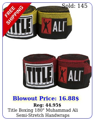 title boxing muhammad ali semistretch handwrap