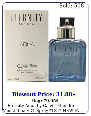 eternity aqua by calvin klein men oz edt spray tst in bo