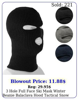 hole full face ski mask winter beanie balaclava hood tactical snow hat cap lo