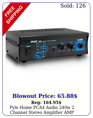 pyle home pca audio w channel stereo amplifier am