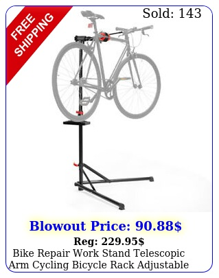 bike repair work stand telescopic arm cycling bicycle rack adjustable holde