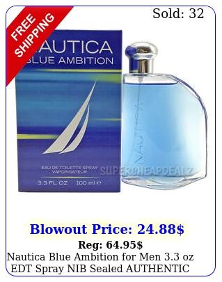 nautica blue ambition men oz edt spray nib sealed authenti