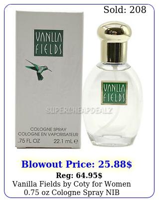 vanilla fields by coty women oz cologne spray nib authenti