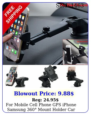 mobile cell phone gps iphone samsung mount holder car windshield stan