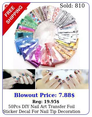 pcs diy nail art transfer foil sticker decal nail tip decoration star se