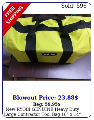 ryobi genuine heavy duty large contractor tool bag x x
