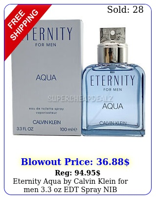 eternity aqua by calvin klein men oz edt spray nib authenti