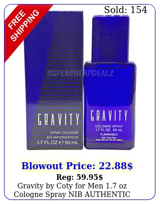 gravity by coty men oz cologne spray nib authenti