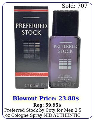 preferred stock by coty men oz cologne spray nib authenti