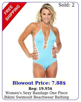 women's sexy bandage one piece bikini swimsuit beachwear bathing sui