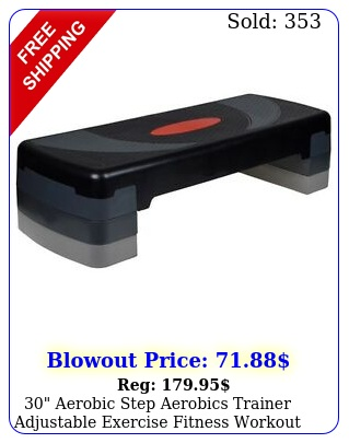 aerobic step aerobics trainer adjustable exercise fitness workout steppe