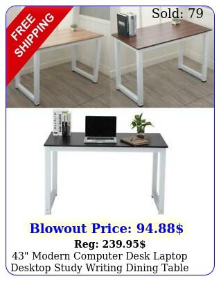 modern computer desk laptop desktop study writing dining table home offic