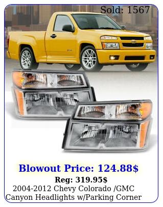 chevy colorado gmc canyon headlights wparking corner lamps p