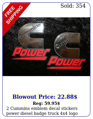 cummins emblem decal stickers power diesel badge truck x logo for