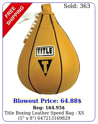 title boxing leather speed bag xs