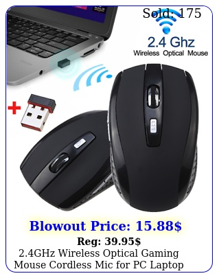 ghz wireless optical gaming mouse cordless mic pc laptop  usb receive