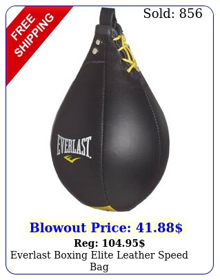 everlast boxing elite leather speed ba