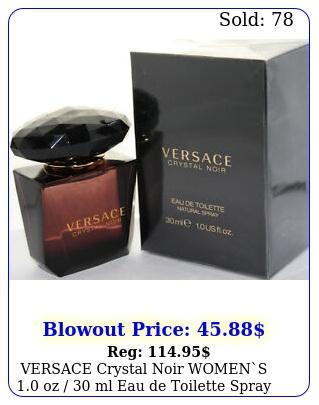 versace crystal noir womens oz  ml eau de toilette spray in bo