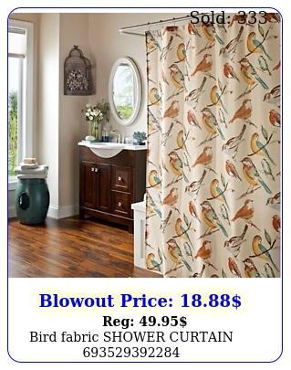bird fabric shower curtai