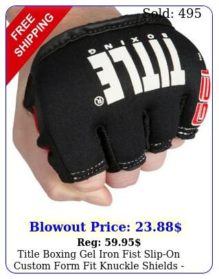 title boxing gel iron fist slipon custom form fit knuckle shields blac