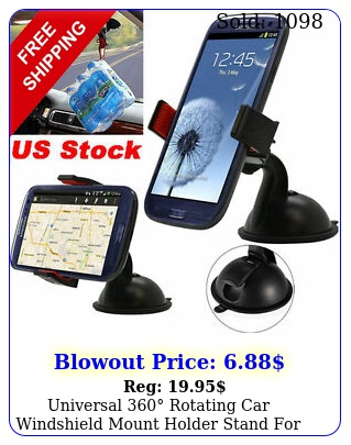universal rotating car windshield mount holder stand mobile gps phon